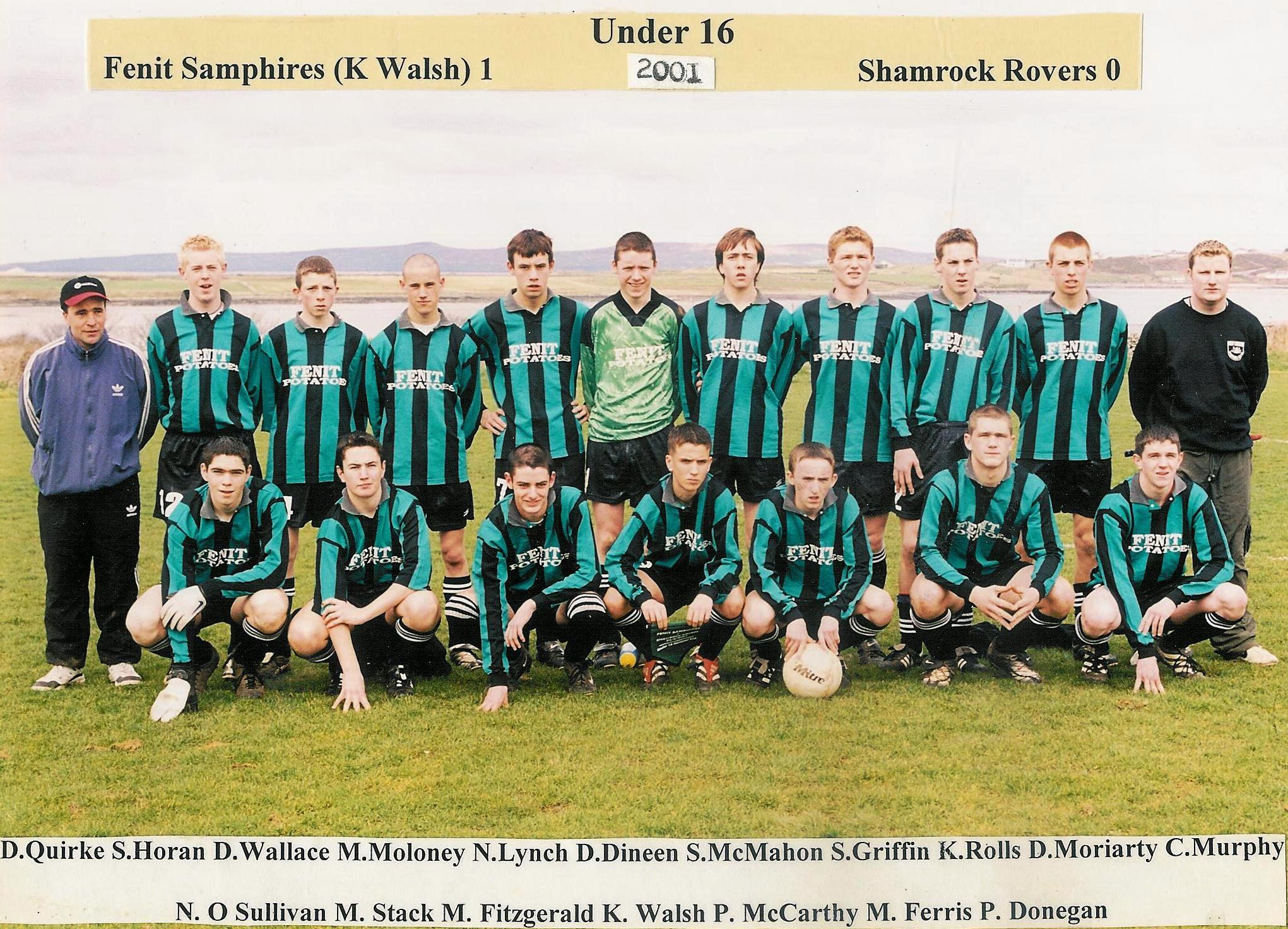 samphires u16 team v shamrock rovers